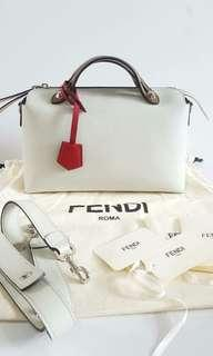 Ready FENDI BTW Small Opale tricolor with db, card,tag n paperbag