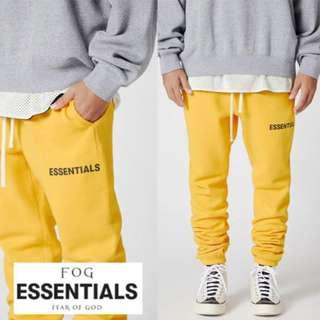 Fear of God - FOG Essentials Graphic Sweatpants (Yellow)