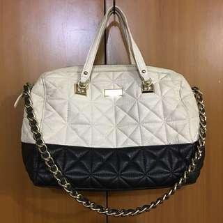 AUTHENTIC KATE SPADE QUILTED IVORY BLACK