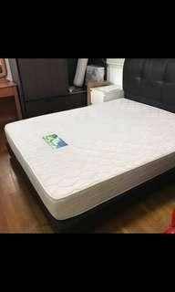 Queen size bed frame & Mattress (2 years old)