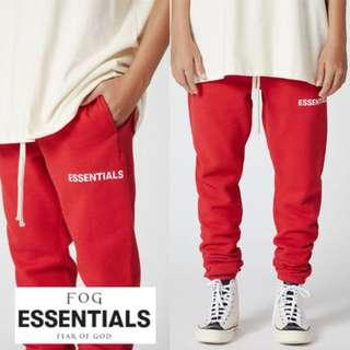 Fear of God - FOG Essentials Graphic Sweatpants (Red)