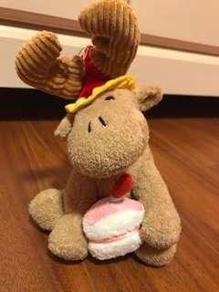 Moose birthday animal plush