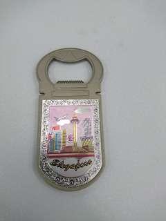 Singapore landmarks bottle opener magnet