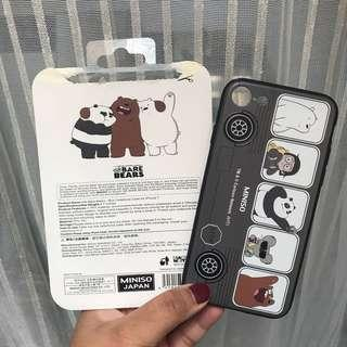 Miniso Phone Case We Bare Bears For iPhone 7