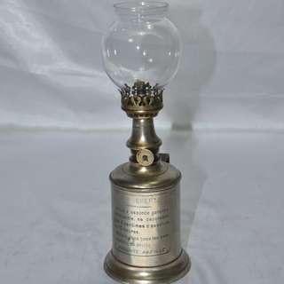 ANTIQUE VINTAGE FRENCH LA PREFEREE OIL LAMP