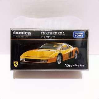全新未拆 日版 Tomica Premium Tomica Shop 特別版 黃色 法拉利 Ferrari TESTAROSSA (包膠盒)