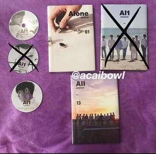 [ WTS ] seventeen alone al1 all album MINGYU SCOUPS DINO