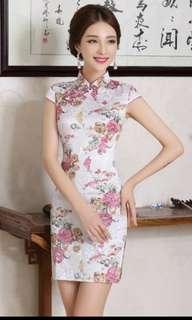 BN CNY Qipao Cheongsam PINK FLORAL