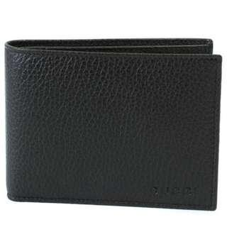 NEW Gucci Men's Cellarius Pebbled Leather Bifold Classic Wallet (Black) [NON NEGO FINAL CLEARANCE]