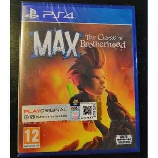 PS4 *New & Sealed* Max The Cursed of Brotherhood