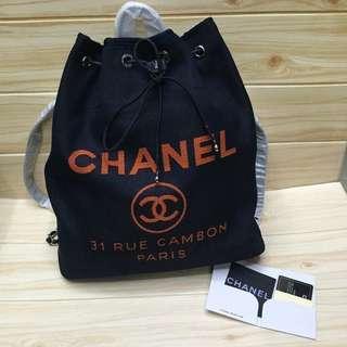 Chanel Drawstring Backpack