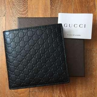 NEW Gucci Guccissima GG Monogram Logo Bifold Men's Wallet (Black) [NON NEGO FINAL CLEARANCE] 0