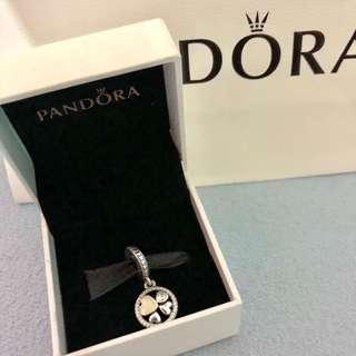 Pandora Hearts of Love Pendant Charm