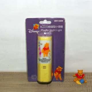 迪士尼 正版授權 小熊維尼 LED 光控造型小夜燈 Winnie the Pooh 維尼 小豬 可旋轉 夜燈 絕版品