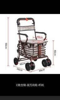 老年代步车可坐可推四轮买菜小拉车