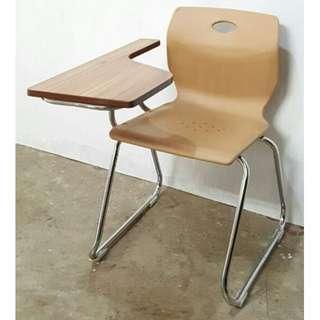 Oak Wood School Chair with Tablet