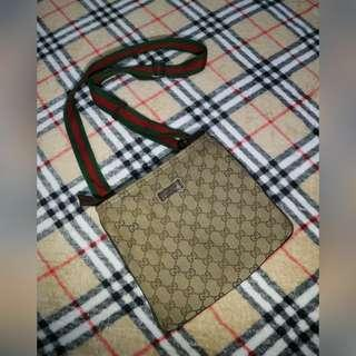 AUTHENTIC GUCCI GG CANVAS SLING BAG