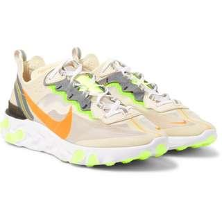 Nike React Element 87 Orewood Brown / Laser Orange $230