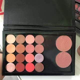colourpop eyeshadow & tarte blusher