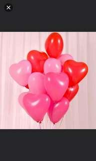 Heart shape balloons. #anniversary #love #birthday