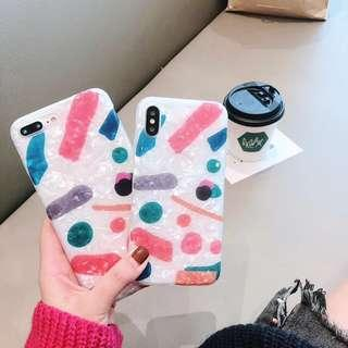 Chic Watercolor Silicon IPhone Case 6 6S 7 8 + X Xr Xs Max
