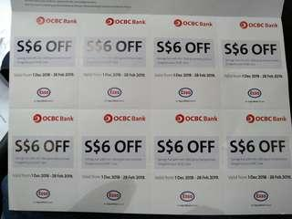 Ocbc bank Esso Vouchers. Only left 3