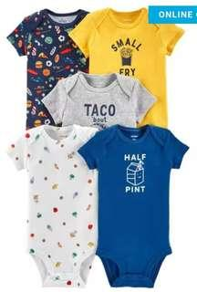 New 5 Piece Set Onesies for Boys 3M