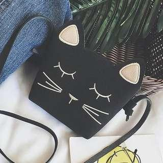 Kitty Cat Mini Kids Bag GG172 colours: black and yellow