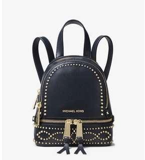 9e1677cbd39b 100% Authentic Michael Kors Rhea mini studded leather backpack