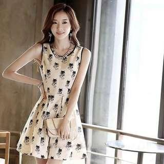 Printed Elegant Dress F6493 size: S,M,L