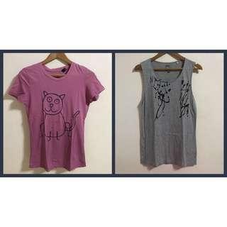 Mango t-shirt + Uniqlo sleeveless top