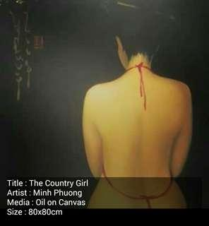Oil Painting Tittle Country Girl by Minh Phuong