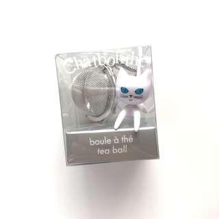 Pylones white cat tea infuser tea ball