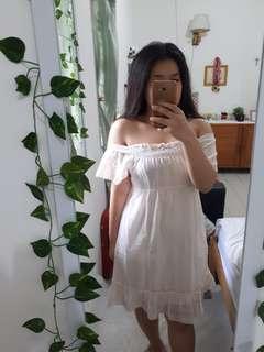 SABRINA DRESS Pink to White