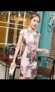 BN Qipao Cheongsam - Vintage Pink Floral