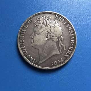 Great Britain UK 1822 George IIII silver grade - Nice grade