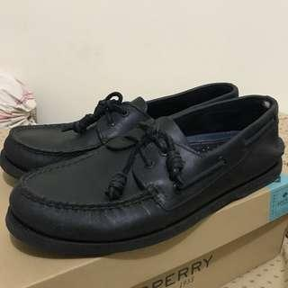 ORIGINAL Boat Shoes Sperry warna Full Black
