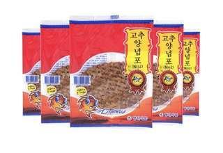 新年/賀年小食 韓國 MyongJin 고추양념포 雞泡魚乾/魚干(辣味 )50包