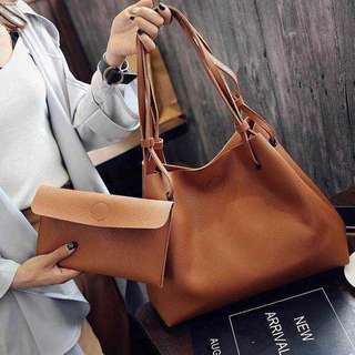 Zara同款✨子母超值pu皮革大方包