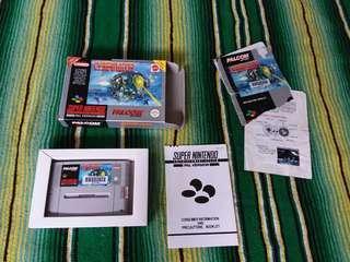 1993 Super Nintendo Video Game Cybernator Original Box SNES Rare
