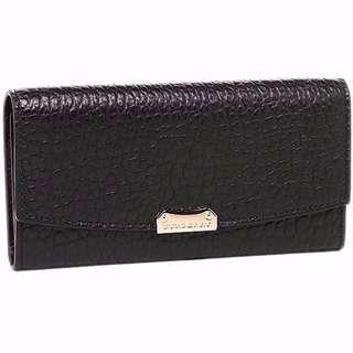 BN Burberry Women's LS Porter Embossed Long Leather Wallet (Black with Gold-tone Hardware)  [NON NEGO FINAL CLEARANCE]