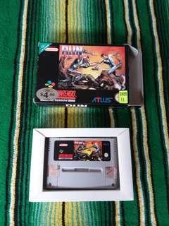 1993 Super Nintendo Video Game Run Saber Original Box SNES Very Rare