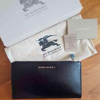 NEW Burberry Women's Constantine Long Patent Leather Wallet (Black)  [NON NEGO FINAL CLEARANCE]
