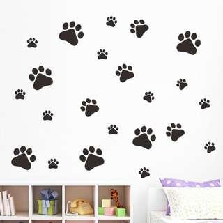 22 Paw Print Wall Stickers
