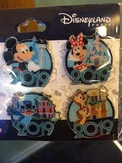 {法國代購}巴黎Disneyland🏰代購 【Pin Disneyland 2019 set】 【巴黎迪士尼樂園2019襟章套裝】