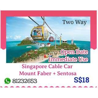 Singapore Cable Car (Mount Faber + Sentosa Line) TWO WAY