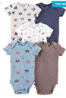 New Carter's 5 Piece Onesies Set for Boys 3M