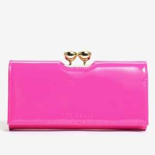 NEW Ted Baker Women's Crystal Bobble Matinee Long Wallet (Bright Pink) [FINAL CLEARANCE]