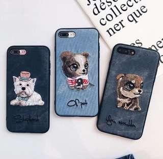 🚚 Cute Embroidery iPhone Case