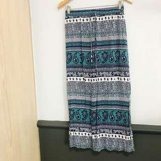 🚚 Cotton On Aztec Bohemian Maxi Skirt with Slit